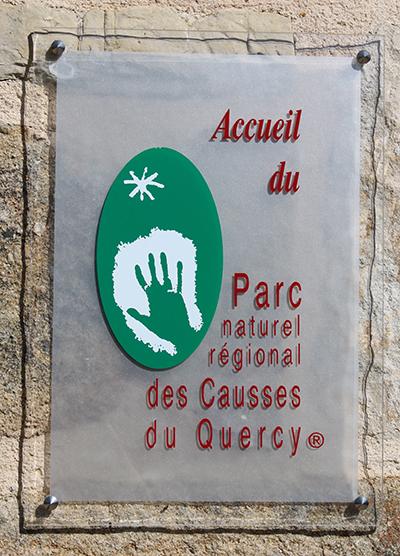 Photo : marque Accueil du PNR